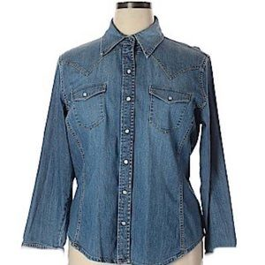 THE GAP WESTERN DENIM SHIRT SMALL